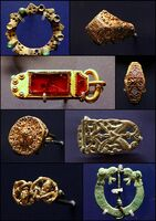 Anglo-Saxon jewellery, buckle, belt-end