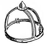 Helmgestell von Leckhampton Hill, kriegswaffen00demmin p316, Fig.2