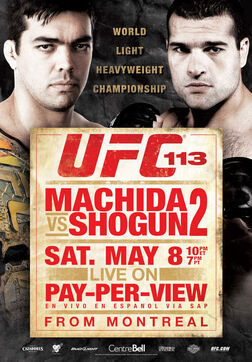UFC 113 event poster