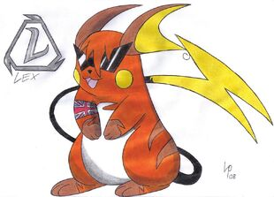 Cool Raichu by Lex the Pikachu