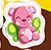 Teddy Butterfly as a sticker