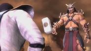 Shao Kahn tells Raiden that Earthrealm will be destroyed