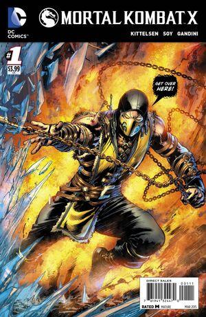 Mortal Kombat X 1 Print Cover A
