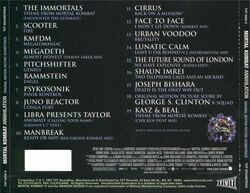 Mortal Kombat Annihilation Soundtrack Back