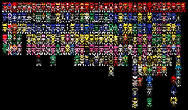 File:All super sentai a k a power rangers pixel art by miralupa-d2plajx.png