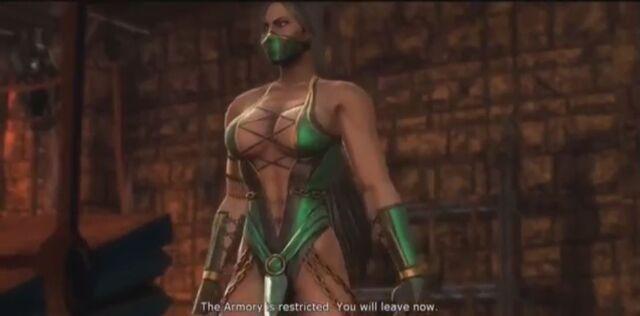 File:Jade tells JAx the armory is restricted.JPG