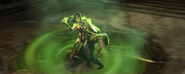 Mileena takes Shang Tsung's power