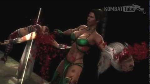 Let's Show Mortal Kombat 9 (2011) - Jade's Fatality Half Mast