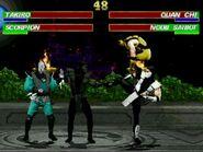 Takiro and Scorpion vs Quan Chi and Noob