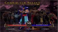 MK SM Vs mode select screen