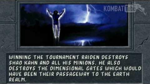 MK II Ending RAIDEN