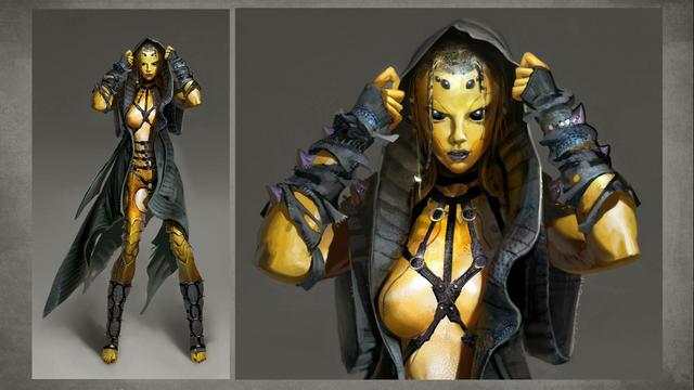 File:MKX D'vorah Concept Art 4.png