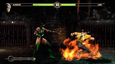 Mortal Kombat 9 (2011) Classic Jade *SECRET* Battle! (CameleonMK)