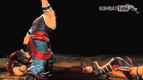 """MK9 Kung Lao """"Hat Trick"""" Fatality"""