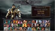 MK Unchained Endurance Mode Select Screen