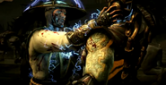 Raiden doing Fatality