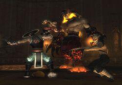 Liu Kang & Kung Lao vs. Orochi Hellbeast