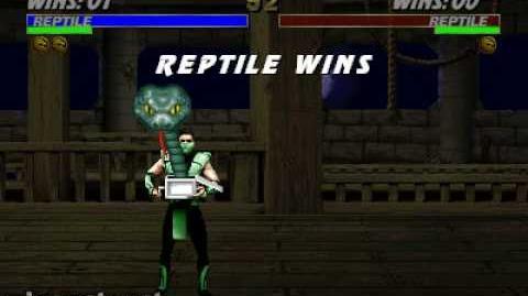 Ultimate Mortal Kombat 3 - Friendship - Reptile