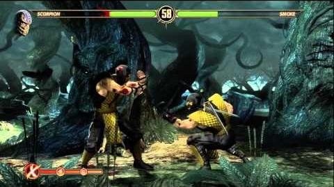 Mortal Kombat 9 - Secret Fight with Classic Smoke (Smoke defeated)