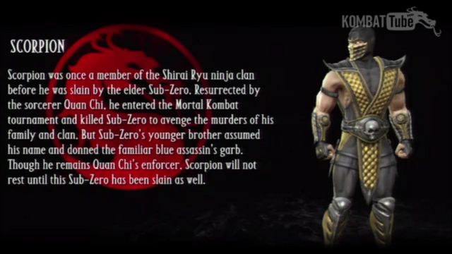 File:Scorpion's Bio from Mortal Kombat vs DC Universe.png