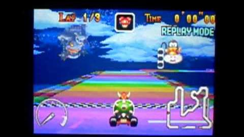 "MK Super Circuit WR 0'34""53 Rainbow Road"