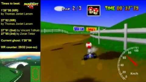 "Mario Kart 64 WR 1'26""36 Moo Moo Farm"