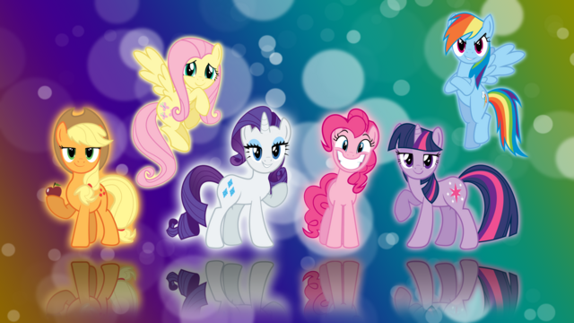 File:My little pony fim six mane wallpaper by bluedragonhans-d4j9n4k.png