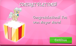 Mayor Mare Won in EG