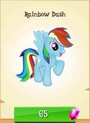 Rainbow Dash in store unlocked