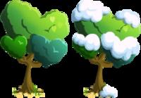 Triple Heart Shaped Tree