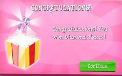 Diamond Tiara Won in EG