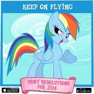Pony Resolutions 2014 Rainbow Dash