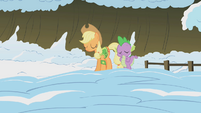 Applejack and Spike disappointed S1E11