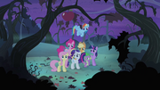 Main cast looking toward trees S4E07.png