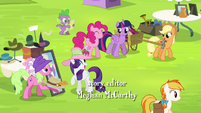 Mane 6 and Spike at the Traders Exchange S4E22
