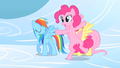 Pinkie Pie cartwheeling on clouds S1E16.png