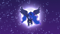Princess Luna emerges from the moon S5E4