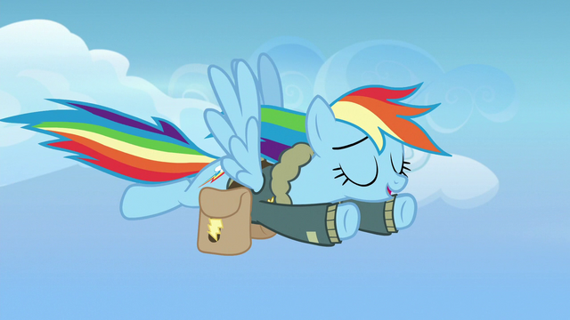 File:Rainbow Dash flying leisurely toward Ponyville S6E24.png