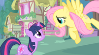 "Twilight and Fluttershy ""where are you off to?"" S1E17"