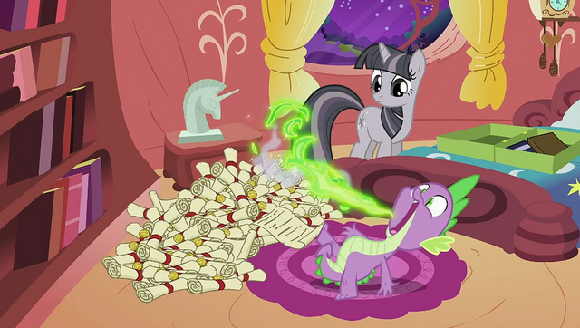 File:Spike belching out a scroll S2E02.png