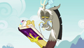 Discord reading the Mane 6's journal S4E25.png