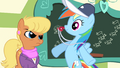 Rainbow Dash blowing the whistle while smiling S4E5.png