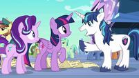 Shining Armor happy to see Twilight S6E1