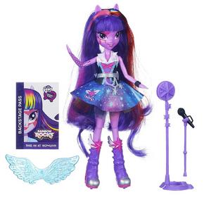 Twilight Sparkle Equestria Girls Rainbow Rocks singing doll