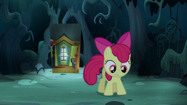 File:Apple Bloom returns to the dark forest S5E4.png