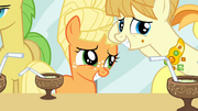 Filly Applejack smiling S1E23