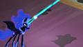 Nightmare Moon firing magic at Princess Celestia S4E02.png