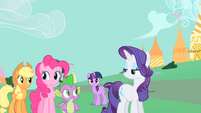 Rarity with an annoyed expression S1E26