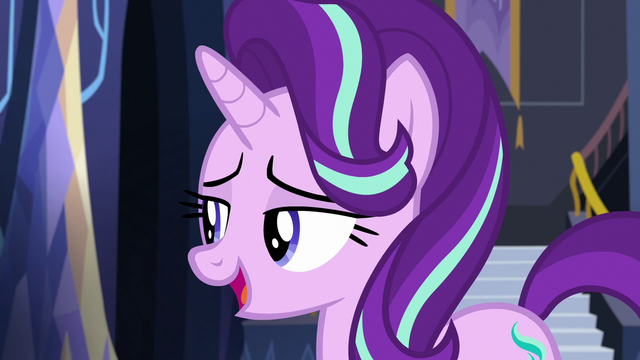 """File:Starlight Glimmer to Fluttershy """"great"""" S6E21.png"""