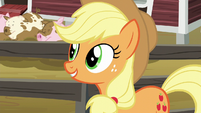 Applejack feeling a little assured S6E10